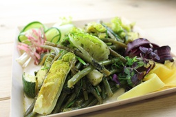 SALADE GO GREEN /HARICOTS VERTS/PETITS POIS/COURGETTES/SUCRINE